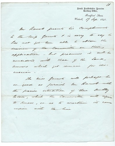 South Staffordshire Junction Railway letter 1845   by ian.dinmore