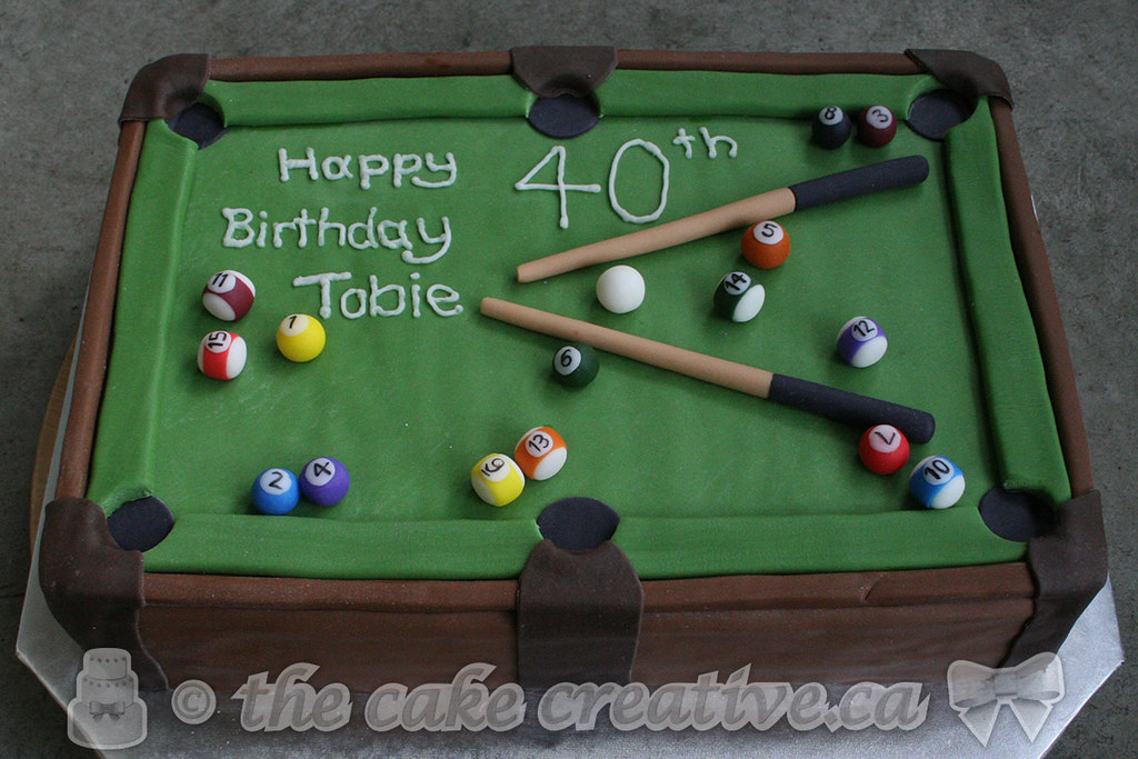 Super Pool Table Birthday Cake Chocolate Cake Covered And Filled Flickr Personalised Birthday Cards Akebfashionlily Jamesorg