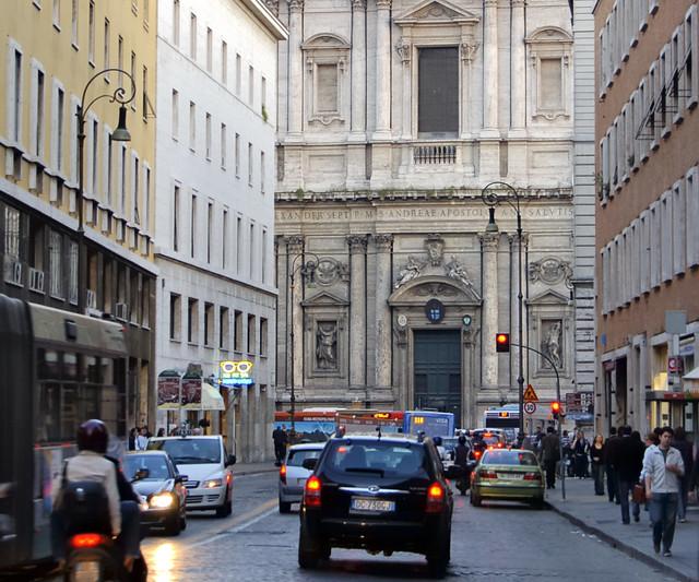 Street scene with church - Corso de Rinascimento, Sant'Eustachio, Roma