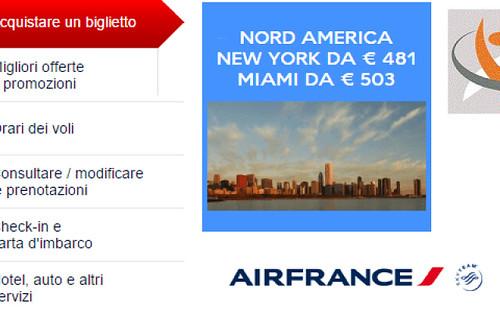 Air France Offerta volo per New York da 480 euro
