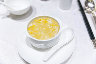 Fresh crab meat with sweet corn soup   by City Foodsters