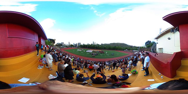 Commencement Exercises of Theodore Roosevelt High School (Honolulu, Hawaii) Class of 2016 - a 360° Equirectangular VR