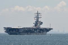 USS Ronald Reagan (CVN 76) departs Yokosuka, Japan, June 4 for a regional patrol. (U.S. Navy/MC2 Peter Burghart)