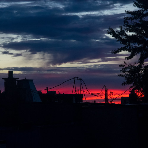 sunrise montreal mileend clouds cloud fall autumn
