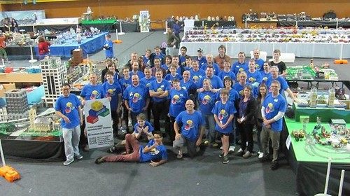 Group photo at 2014 Auckland Brick Show.