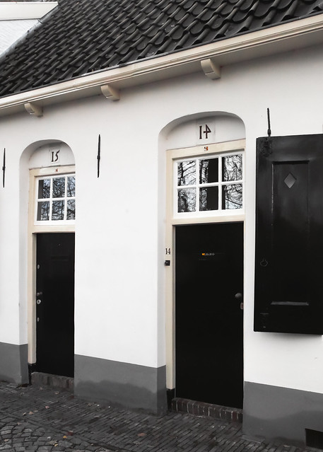 Ancient homes close to the site of Utrecht's old city walls