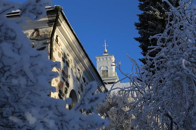 Kuopion tuomiokirkko talvi 1
