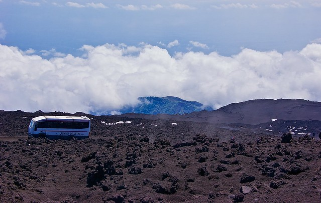On the way to the top of Mount Etna