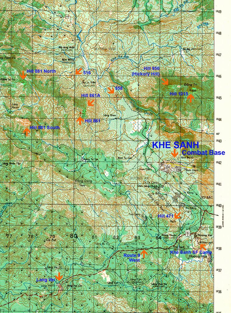 6342-3 Map of Khe Sanh Area | Map of Khe Sanh Area Hill 861 ... on latitude map of vietnam, relief map of vietnam, climate map of vietnam, population density map of vietnam,
