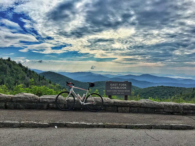 iPhone snap from today's incredible ride in the mountains!