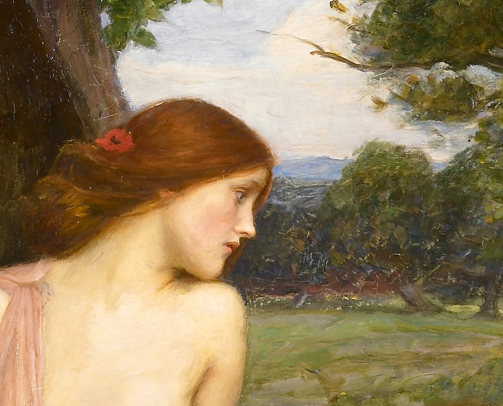 Narcissus Painting Waterhouse