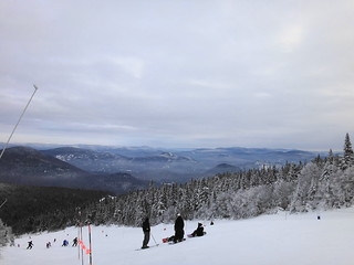 Clear day on Tremblant at the peak.