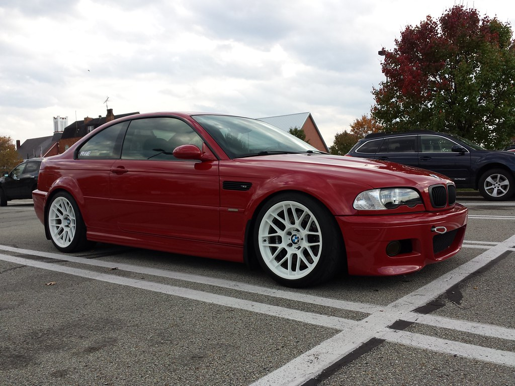 Bmw M3 E46 With 18 Wheels Imola Red Bmw E46 M3 With Arc 8 Flickr