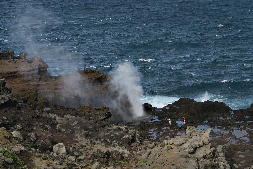 Blowhole at Nakalele Point, Hawaii