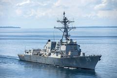 USS Mustin (DDG 89) file photo. (U.S. Navy/PO2 Declan Barnes)