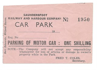 Saundersfoot Railway and Harbour car park ticket undated | by ian.dinmore