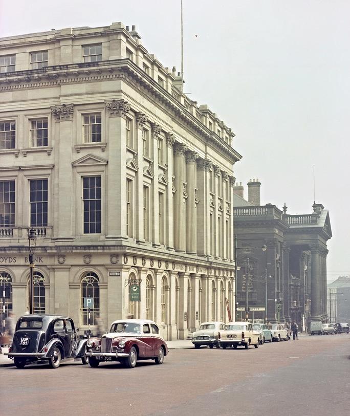 Looking down Grey Street, Newcastle, 1958