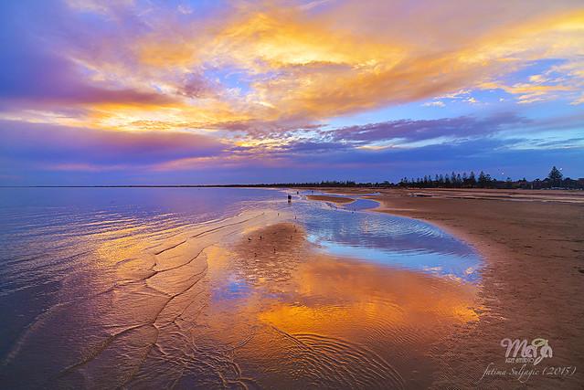 Golden Sunset at Altona Beach (Melbourne DSC_6707) Nikon D800