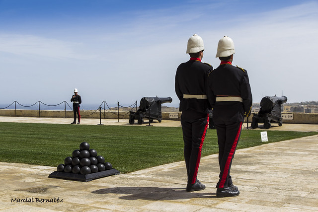Malta - Valletta - Upper Barrakka Gardens - Saluting Battery 12.00 h.