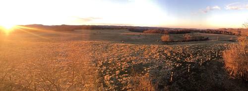 sunset sun tennessee panoramic elk elkherd