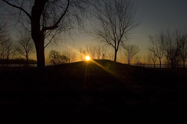 the sun and the pillar