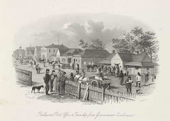 Post Office from Government Enclosure (1857)