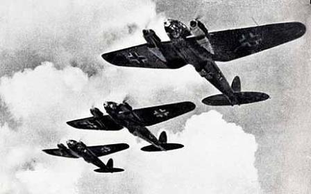 Formación de bombarderos Heinkel 111