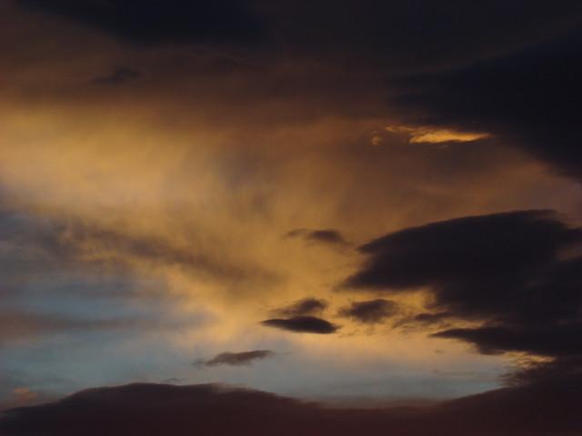 Sunset automnal - CONTIS plage...