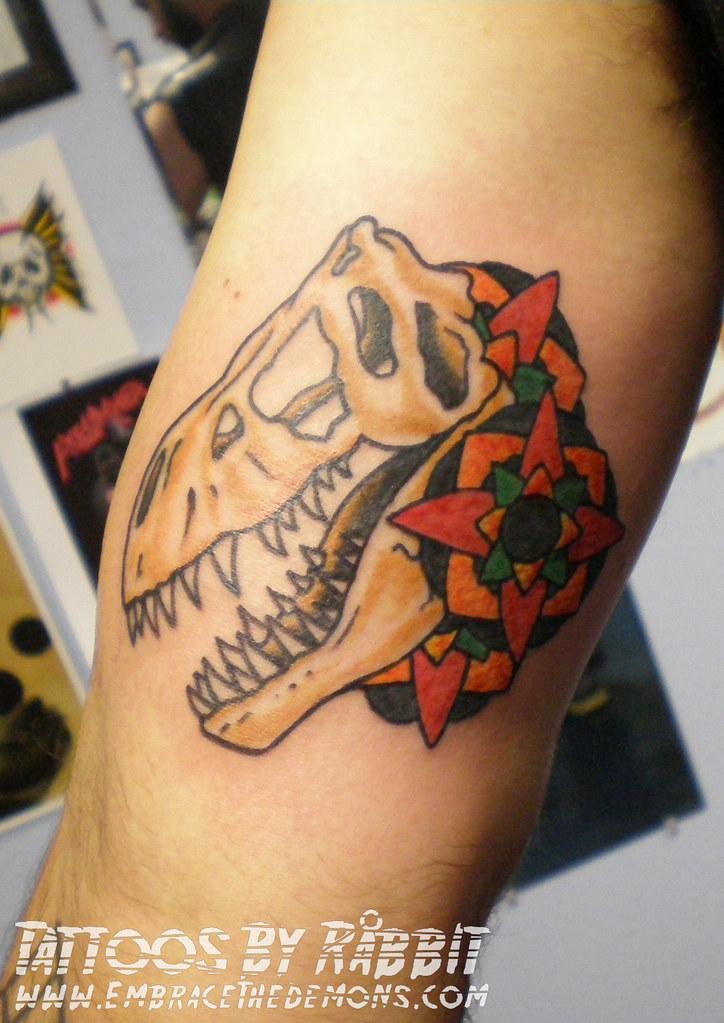 b5850254f Trex Skull Tattoo   Trex Skull tattoo by Råbbit   Råbbit   Flickr