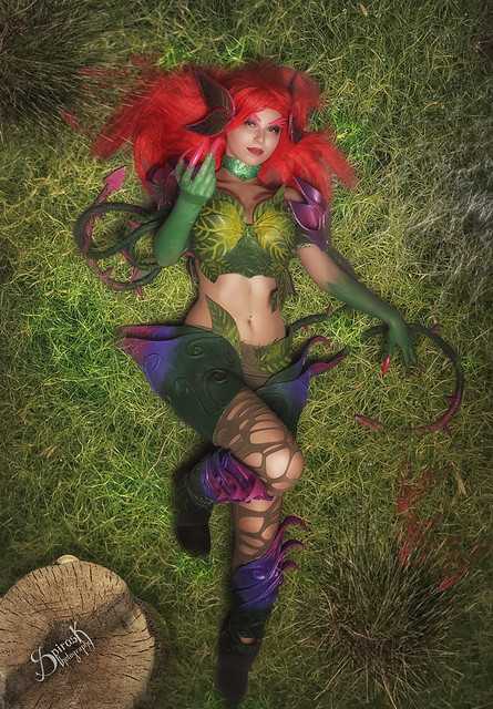 ZenEmerald Cosplay as Zyra from League of Legends, by SpirosK photography