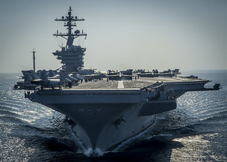 USS Carl Vinson is underway in the Arabian Gulf. | by Official U.S. Navy Imagery