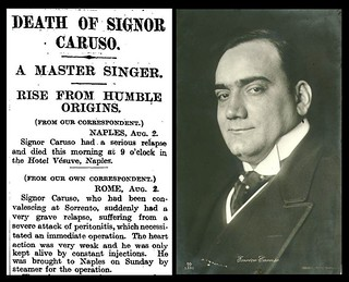 2nd August 1921 - Death of Enrico Caruso | by Bradford Timeline