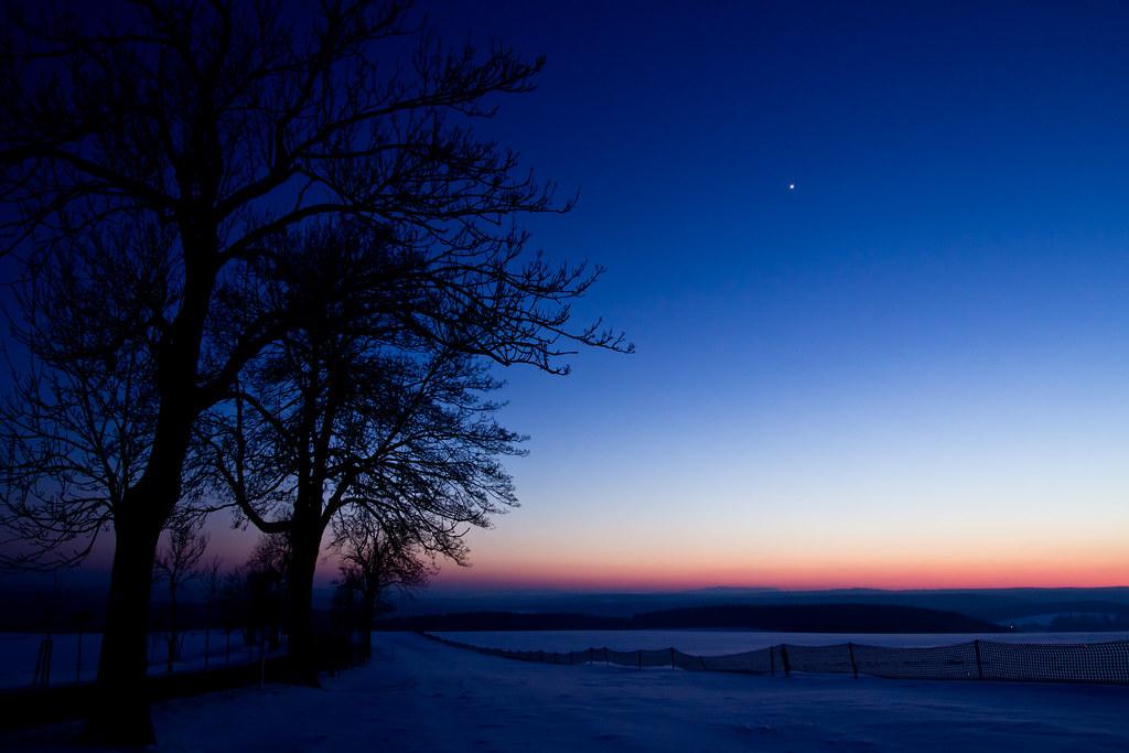 Venus in Blue Hour