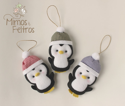 Pinguins de Natal | by Mimos e Feltros