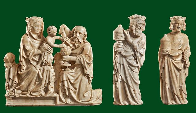 Schnü-57 Köln - Anbetung der Heiligen Drei Könige vom Hochaltar des Kölner Domes 3c [1310-22] - Köln, Museum Schnütgen