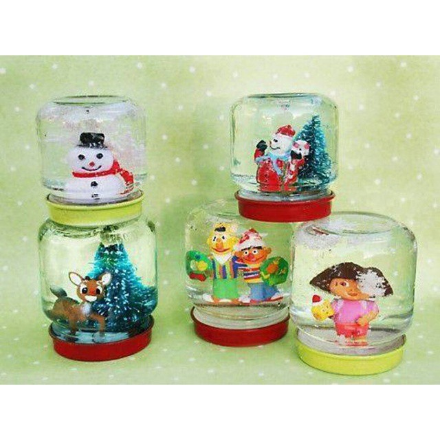 Christmas Crafts Snowglobes Materials Baby Food Jars Pa