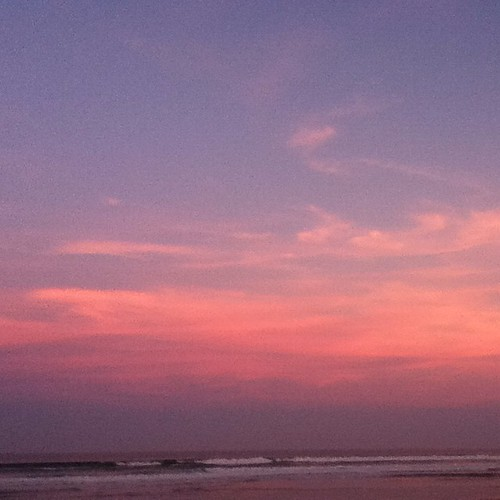 Pretty colored beach sunset this evening! | by Amy Weiser