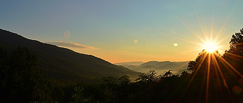 morning light sun mountains sunrise nikon great smoky