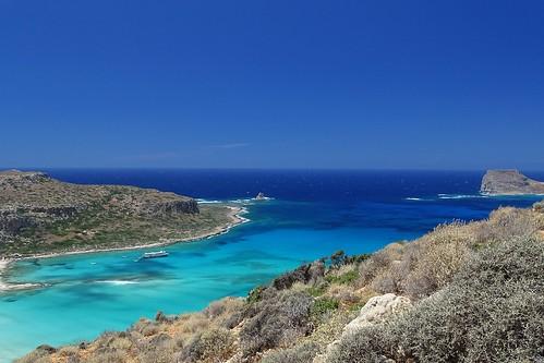 blue sea summer sky seascape nature water landscape island mediterranean view kreta blues sunny lagoon greece crete kriti gramvousa balos baloslagoon