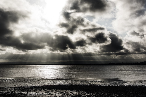 sunset sea sky blackandwhite clouds sunsetsandsunrisesgold cloudsstormssunsetssunrises