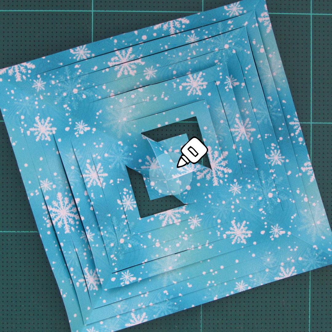วิธีทำดาวกระดาษรุปเกล็ดหิมะ สำหรับแต่งบ้าน ช่วงเทศกาลต่างๆ (Paper Snowflake DIY) 007