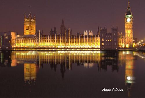 bridge houses reflection london thames big long exposure ben illumination parliament noght londonist colurs londoni