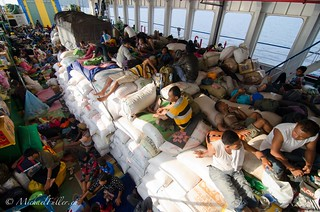 Cargo deck on overnight overloaded ferry | by mrfuller