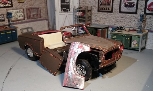 Peugeot 403 convertible weathered (2) | by www.MODELCARWORKSHOP.nl