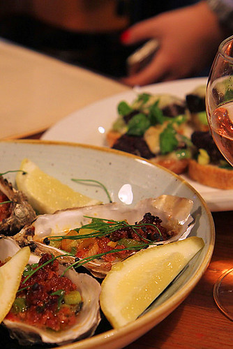 Barbequed Carlingford oysters with Merquez sausage and spring onion IMG_2375-ch-R-a | by nicisme