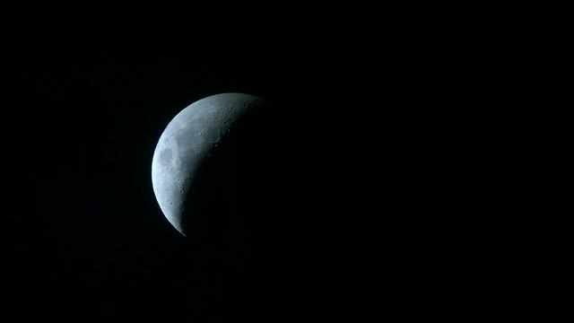 The Moon, as shot through my telescope using my Nokia Lumia 1020