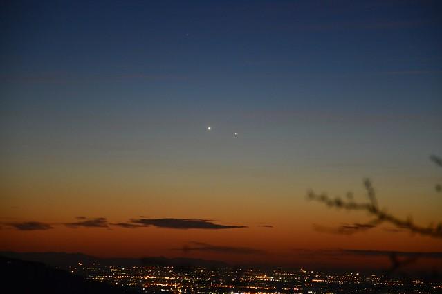 Venere e Mercurio 12 gennaio 2015 - Planet Venus  (left) and Planet Mercury (right), January 12, 2015-