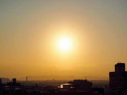 太陽 sun jan 01 2015 一月 sunrise 深耕 rooftop 頂樓 日出 weather