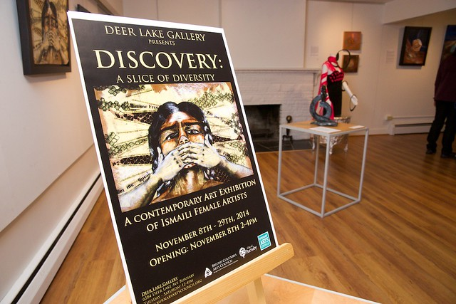 Discovery: A Slice of Diversity. Group Exhibition of Ismaili Muslim Female Artists. Curated by Taslim Samji. Nov 8th-29th, 2014.