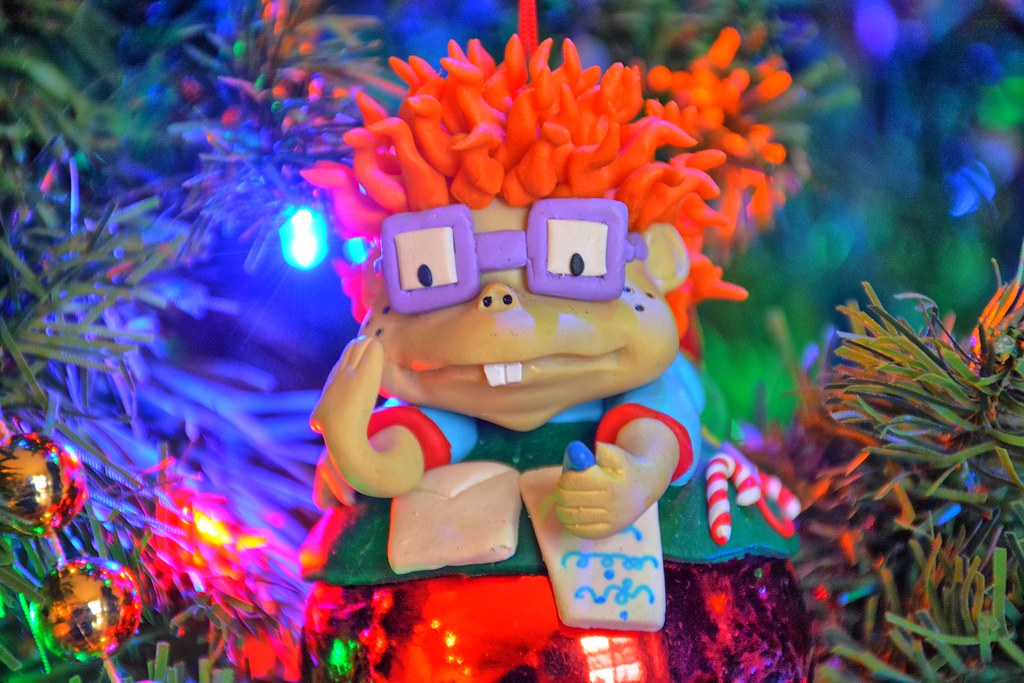 Rugrats Christmas.Rugrats Chuckie Finster Christmas Tree Lights And Ornament
